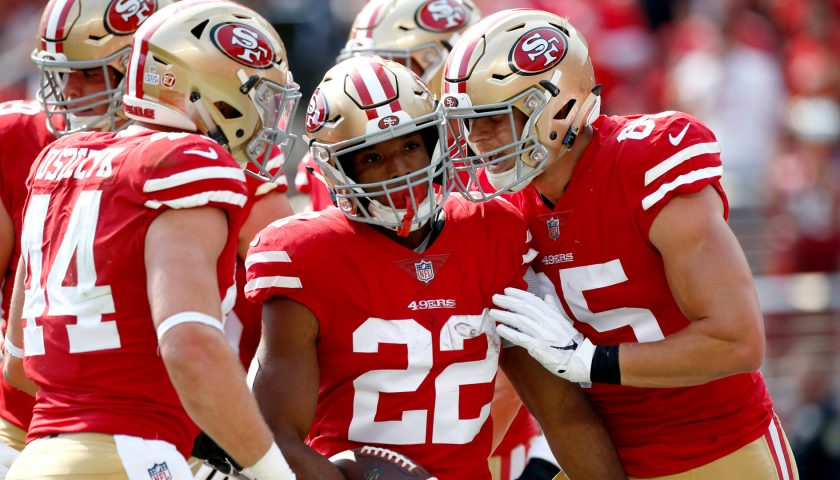 Source  Matt Breida hopeful to play for 49ers next week after X-rays  negative 4f80bf17c