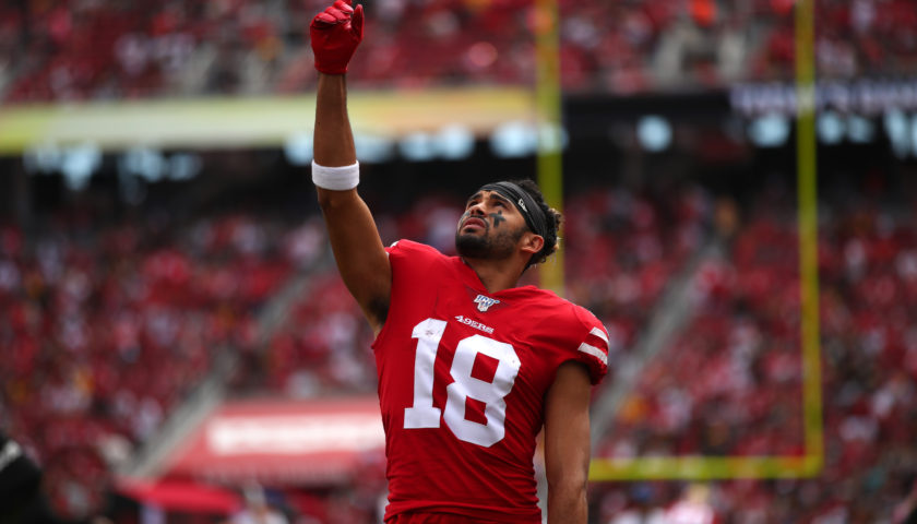 the best attitude b7780 ecfc4 49ers highlights: Jimmy Garoppolo hits Dante Pettis for game ...